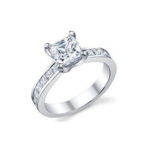 Jewelry - 3.50 Ct princess and round cut diamonds wedding